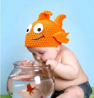Cheap Unisex hat costume Best Winter Newborn Hat goldfish hat
