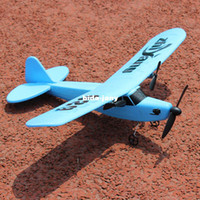 Airplanes Electric 2 Channel Free shipping 150m RC distance Airplane Super Glider shatter resistant easy to fly in blue