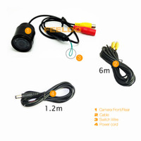 DC 12V car front view camera - 5pcs High quality of degree Car Rear Front View Color Night Vision IR Camera