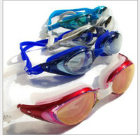 Wholesale Pormotion adult Electroplating goggles womens mens Anti fog swimming glasses mens Waterproof goggles Summer colors