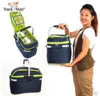 ice box - Outdoor picnic basket picnic bag ice pack insulation bag cooler box food basket Handheld basket