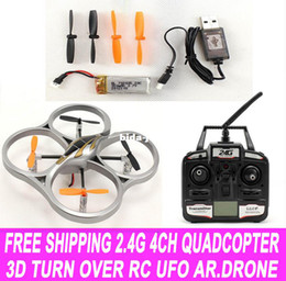 Wholesale Best Gift Kids RC Toys Outdoor G CH Remote Control D Turn Over Quadcopter RC Electric UFO quad copter RC Planes ar drone