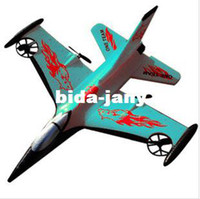 Airplanes Electric 2 Channel Free shipping 4 CH Electric RC Airplane Glider Foam shatter resistant in green & red 4 blades