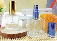 square jar - Square Clear Glass Sprayer Perfume Bottles Portable Fragrance Scent Bottle Vials Makeup Cosmetic Jars Women Makeup Supplies ZH1405