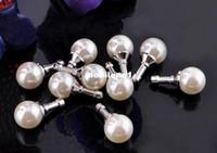 Wholesale new hot selling kpop kawaii pearl anti dust plug for m earphone jack plug