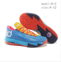 Hight Cut Men Spring and Fall Mens Basketball Shoes Kevin Durant VI KD 6 Mens Basketball Shoes Sports Shoe KD VI 6 Away 2 II Vivid Sneakers Lace-up shoes size:8-12