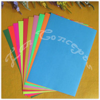 Wholesale A4 Colorful Sticker DIY Paper with self adhesive for punch scrapbooks printing LA0114B