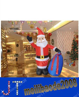 inflatable christmas - Christmas decorations inflatable Santa Claus gift bags to mention Christmas shopping scene layout meter MYY1051