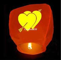 10pcs / lot Livraison gratuite chinoise Souhaitant lanternes amp; Extérieure Sky Lantern Pour Promotion