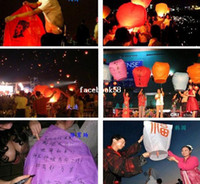 Multicolor Bubble PA Quality Chinese Style Sky Kongming Lantern +Pen Flying Wishing Lamp Memorial Wedding Party Paper Lights(10pcs lot) Good Quality