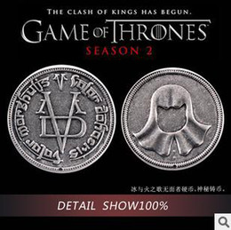 Wholesale Special Offer Game of Thrones Song of Ice and Fire Faceless Man Valar Morghulis Coin Collection B12