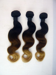 Brazilian Ombre Hair Weave Body Wave 3 Three Tone Color #1b #4 #27 Remy Human Hair Weaving 3 or 4 pcs lot