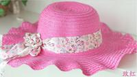 Wholesale New Arrive Sun hat Women Ladies Wide Large Brim Floppy Summer Beach Hat Sun Straw Hat Cap