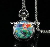 ariel watches - Princess Ariel Little Mermaid Necklace Pocket Watch Child Girl Watch