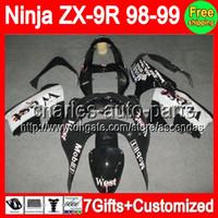 7gifts+ Bodywork black west For KAWASAKI NINJA ZX9R 98- 99 ZX ...