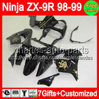 7gifts+ Bodywork For Black Gold KAWASAKI NINJA ZX9R 98- 99 ZX ...