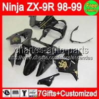 7gifts+ Bodywork For Black Gold KAWASAKI NINJA ZX9R 98- 99 ZX ...