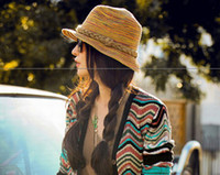 Stingy Brim Hat mix color Plain Dyed Fashion straw Wide Brim Hats sun hat for women formal jazz leisure hats in summer