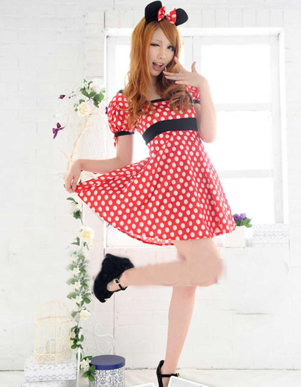2017 Girls Sexy Minnie Mouse Adult Party Halloween Xmas Womens ...