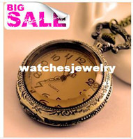 Antique antique citrine jewelry - Min order new vine jewelry cute fashion rhinestone citrine mechanical pocket watch