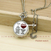 antique prints sale - Hot sale Red amp White Print LOVE Silver Mini Pocket Watch Necklace P125