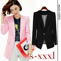 NEW!!! 2014 Women's Fashion Businese Lace Lining Basic Jacket Black Pink One Button Blazer Suit Top Quality for lady