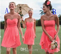 strapless sweetheart ruffle bridesmaid dresses 2014 knee len...