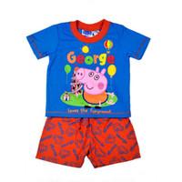 Boy Summer 1-2-2-3-3-4-5T(1:2:2:1:1) Wholesale 7 sets lot 2014 New Arrival Baby Boys Summer Clothing Peppa Pig Cartoon Pajamas Set George Pig Sleepwear