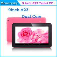 "Precio de Tablet 9 inch-9 pulgadas A23 Tablet PC Dual Core Android 4.2 512M 8GB Allwinner A23 Doble Cámara WiFi Bluetooth 9"" Multi Capacitivo tableta 000856"