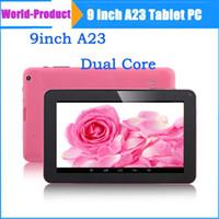 Precio de Tablet 9 inch-9 pulgadas A23 de Doble Núcleo Android 4.2 512M 8GB Allwinner A23 de Doble Cámara WiFi Tablet PC 9