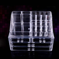 acrylic display box - 24x15x18 cm New Arrival Cosmetic Organizer Boxes Makeup Drawers Display Box Acrylic Clear Cabinet Cases K07584