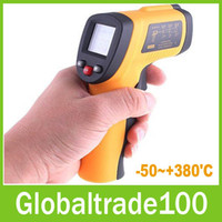 Industrial Infrared Thermometer  Digital Infrared Non-Contact Laser IR Thermometer Weather Station -50~+380'C Cinical Termometer LCD Free DHL Shipping
