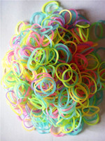 Link, Chain fashion Children's 600-Piece Glow in the Dark loom Band Bracelet Loom Refill Pack with 25clips