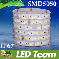 Wholesale New Arrival Set Waterproof IP67 Led Strips SMD5050 Output AC DC12V Input V leds m leds Christmas Lighting CE ROHS UL CSA
