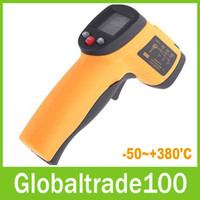 Wholesale Non Contact LCD Digital IR Infrared Thermometer Temperature With Laser Gun C Free DHL Shipping