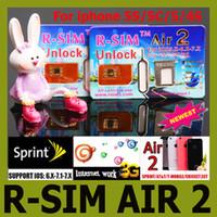 Wholesale Original R SIM air RSIM air2 r sim air Support US iOS7 Sprint AT amp T T mobile Unlock for iphone S C S G iOS6 X X