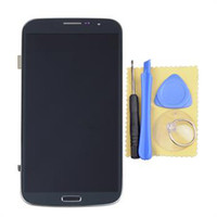 For Samsung LCD Screen Panels  For Samsung Galaxy Mega 6.3 i527 i9200 i9205 Blue LCD Touch Screen Digitizer+ Frame