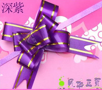 Wholesale Best Price Gift Bag Flowers Colors Pull Flower Ribbon Useful riband galloon flowers