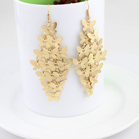 Wholesale New arrival latest design elegant alloy butterfly design drop earrings for women