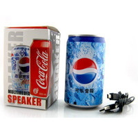 Wholesale Pepsi USB Mini Portable Speaker Sound Box With FM Radio With TF Card Slot For Mp3 Mp4 Computer