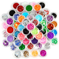 Wholesale Colors Nail Glitter Powder Dust Paillette Spangles Nail Art Set Decoration NA294