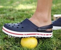 Wholesale Brand hot popular Men amp Women s Crocband clogs sandals unisex classic crocband Hole beach slipper Shoes indoor home garden flip