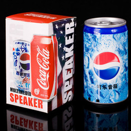 Wholesale New Arrival Pepsi USB Mini Portable Speaker Sound Box With FM Radio With TF Card Slot For MP3 MP4 PC Notebook iPod iPhone