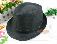 Wholesale Fashion Hot Unisex Trilby Gangster Cap Summer Beach Sun Straw Panama Hats