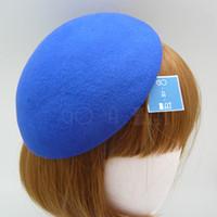Wholesale Ladies Vintage Stewardess Air Hostesses Wool Felt Beret Pillbox Hat MULTI COLOR