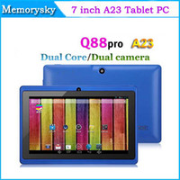 Dual Core A23 écran capacitif 7inch Tablet PC 4Go / DDR2 512 Mo Andriod 4.4 Dual Camera Bluetooth Wifi Meilleur Tablet PC 000801 DHL