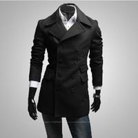 Mens Short Trench Coat Black - Coat Nj
