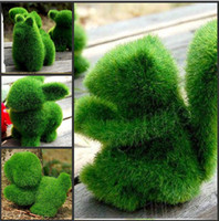 Wholesale Novelty Item Green Grassland Cute Small Animals Artificial Grass Home Decorations Can Relieve Eye Fatigue Best Gift