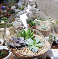 Wholesale 1 PC Round hanging glass vase candlestick Handmade Succulent Terrarium Kit Home decoration Hostess Gift