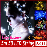 light bulb string lights - Party Xmas Christmas Wedding lights Battery Operated M LED bulbs string colors choose Outdoor Indoor Decoration